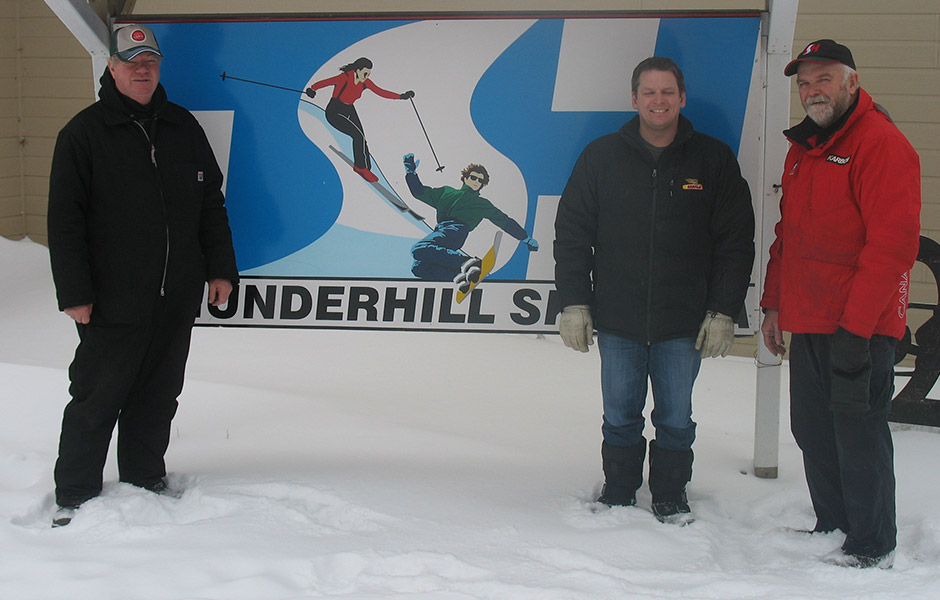 2014 winner Harvey Baldwin from Swan River, MB donated $2,500 to Thunderhill Ski Club.